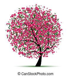 energie, kirschbaum, für, dein, design