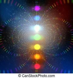 energie, kosmisch, abstract, achtergrond