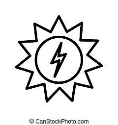 energie, ontwerp, zonne, illustratie