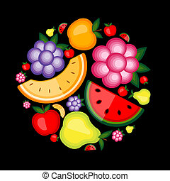 energie, ovoce, design, tvůj, grafické pozadí