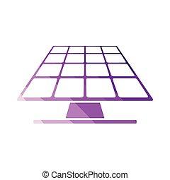 energie, paneel, zonne, pictogram