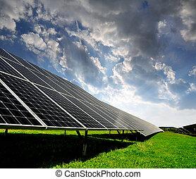 energie, panelen, zonne
