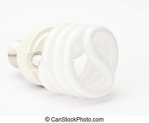 energie saving lamp isolated on white background