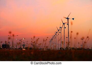 energie, schoonmaken, wind turbine