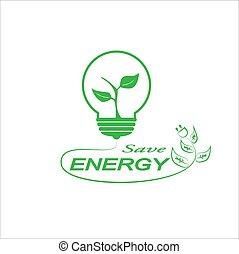 energie, sparen, logo