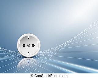 energie, -, steckdose, outlet, elektrisch