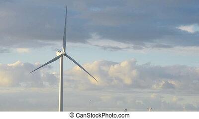 energie, vleugel, macht, turbine