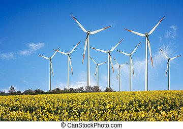 Energie  - Wind turbines farm