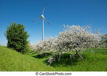 Energie - Windenergie im Fr?hling