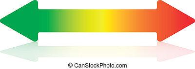 energieeffizienz, horizontal, pfeil