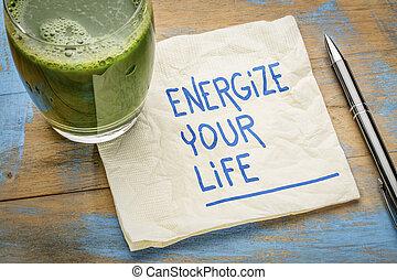 energize your life - napkin concept