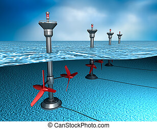 energy:, παλιρροιακός , γεννητόρας , οκεανόs