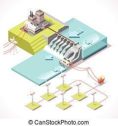 Energy 15 Infographic Isometric - Hybrid Power Systems...