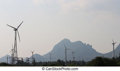 Energy alternatives 8. Wind farm in Indian province of...