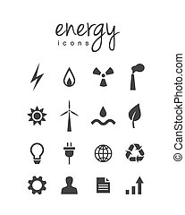 Energy and electricity related icons