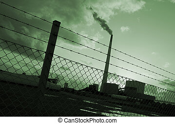 Energy and environment - Power plant in the harbor area of...