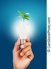 energy and environmental conservation concept.