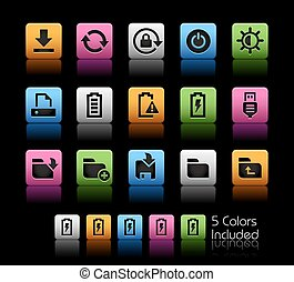 Energy and Storage Icons - The Vector file includes 5 color...