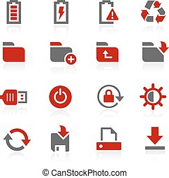 Energy and Storage Vector Icons