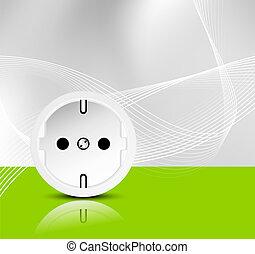 Energy background - green power