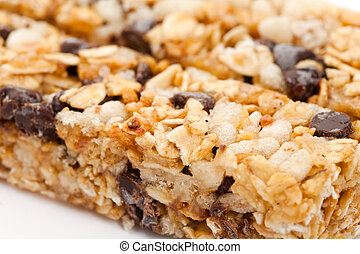 Energy bar close up for background