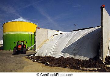 energy:, biogas, energiek, vernieuwbaar, valorization