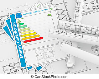 Energy Certificate concept