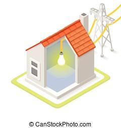 Energy Chain 08 Building Isometric