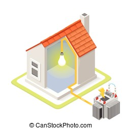 Energy Chain 09 Building Isometric