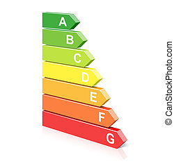 Energy classification symbol - Vector illustration of an...