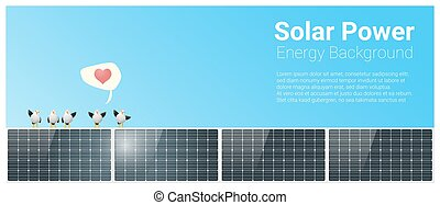 Energy concept background with solar panel 2