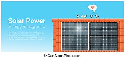 Energy concept background with solar panel 5
