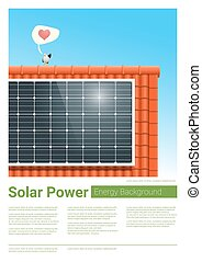 Energy concept background with solar panel 7