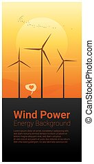 Energy concept background with wind turbine 20