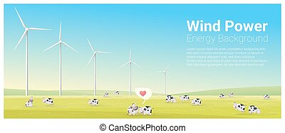 Energy concept background with wind turbine 27