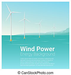 Energy concept background with wind turbine 32