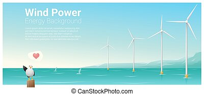 Energy concept background with wind turbine 33