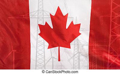 Energy Concept Canada Flag with power pole