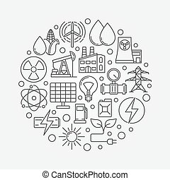Energy concept vector illustration