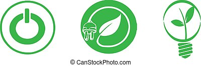 energy conservation icon on white background