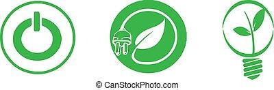 energy conservation icon on white background