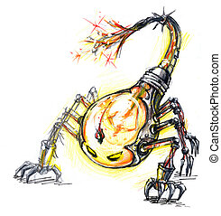 energy consume monster, scorpion bulba concept design of...