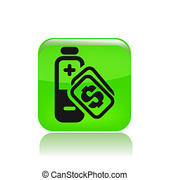 """Energy cost - Vector illustration of a """"money"""", """"pay"""" or..."""