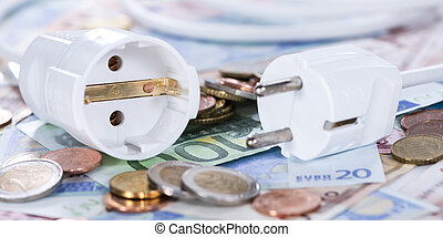 Energy Costs Concept - Energy Costs concept (close-up shot)...