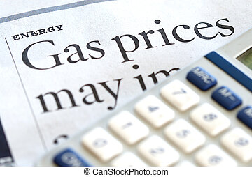 Energy Costs - High price for energy and gasoline in a news...