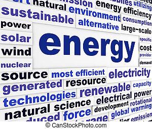 Energy creative words design