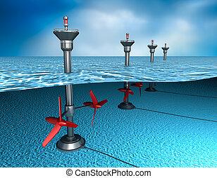 energy:, de marea, generador, océano