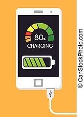 Energy design. - Energy design over yellow background,...