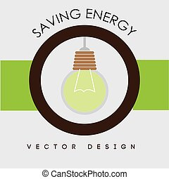 Energy design over white background vector illustration