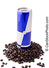 Energy drink and coffee beans (2)